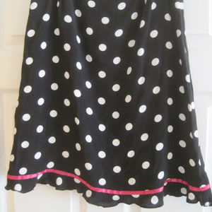 Dresses & Skirts - CLIO BLACK AND WHITE POLKA DOT SKIRT WITH PINK SAT